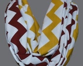 Maroon & Gold Florida State Chevron Infinity Scarf - Jersey Knit Super Soft