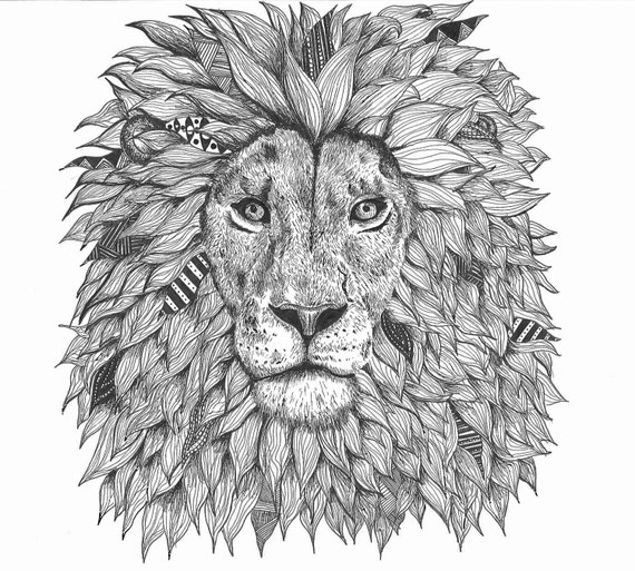Gallery For gt Lion Zentangle