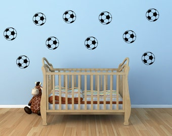 Girls soccer bedroom etsy for Wandmotive kinderzimmer