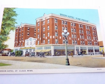Vintage 1927 Breen Hotel St. Saint Cloud St. Paul Minnesota Postcard 19107