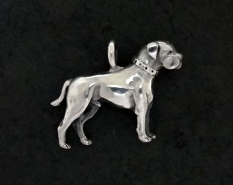 American Bulldog Pendant - Handmade and Cast in Sterling Silver or 14k Gold