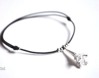 Elastic cord bracelet Eiffel Tower