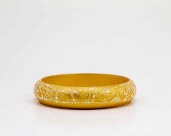 Hand Painted Gold Bangle