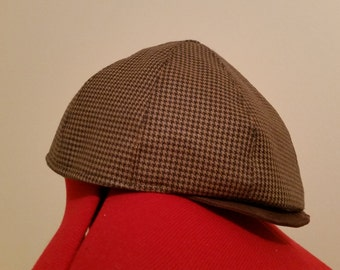 Newsboy cap, wool blend, large
