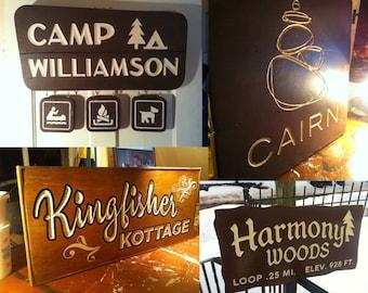 Custom Trail Sign Replicas and Original Designs