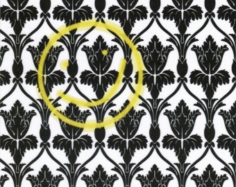 Wallpaper Smiley: Sherlock fabric print