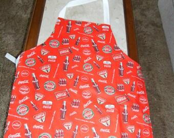 Coke Reversible Adult Apron