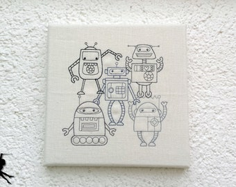 Robots - Wall deco Wall art