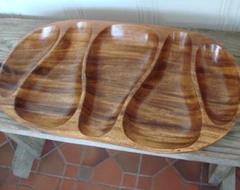VTG Monkey Pod Wood Sustainable Eco Friendly Tray Bowl