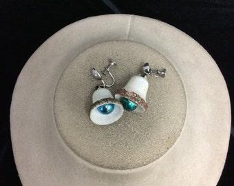 Vintage Christmas Bell Dangle Earrings