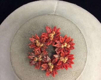 Vintage Sparkling Floral Pin