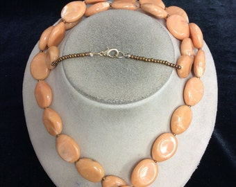 Vintage Ling Tan Beaded Necklace