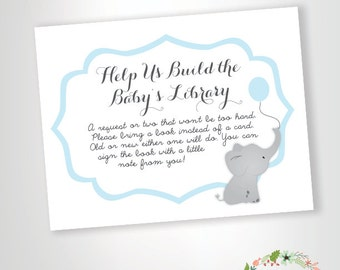 Bring A Book Instead Of A Card    Baby Shower Invitation Insert