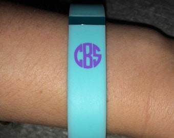 FitBit Monogram Decal, FitBit Decal, Small Monogram Decal, Fitbit Band Decal, Set of 2 FitBit Decals