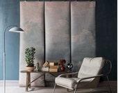 """Clouded Wall Mural, Sky Scene Wallpaper, Cloud Scene - 100"""" x 96"""""""