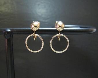 Non Pierced Circle Earrings