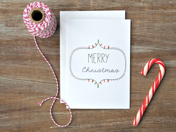Cool Christmas Card Modern Xmas Holiday Simple