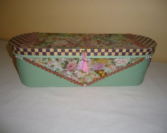Victorian Butterfly Jewelry and Keepsake Box