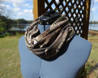 Short Camo Infinity Scarf  Mossy Oak or Real Tree