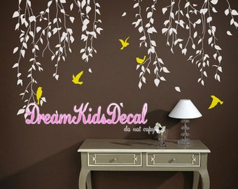 Wall Decal Wall Sticker tree decal Vinyl decal- Flying vines Wall Decal Home Decor-DK171
