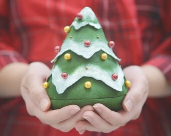 Christmas tree - fill it with everything you want - decorated fir tree, spruce, bag