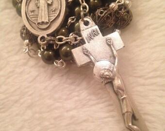 Catholic Green Irish Rosary