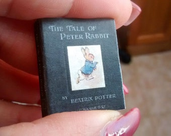 Dolls House 12th Scale  The Tale Of Peter Rabbit by Beatrix Potter . Downloadable miniature book.