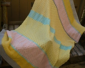 Pastel Stripes Throw