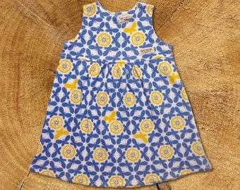 Organic Baby Dress: Blue Butterflies