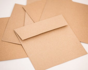 10 Envelopes Kraft Open End Square FlapKraft Envelope 100%