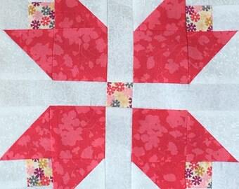 Beautiful 12 Tulip Garden Quilt Pre-cut Block Kits, L@@K!!