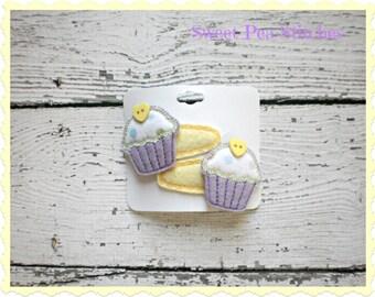 Cupcake Hair Clip