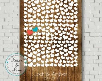 Rustic Guest Book, Wedding Guest Book Alternative, Wedding Gift, Wood Guest Book, Wedding Signs, Bridal Shower Gift Wedding Canvas Guestbook