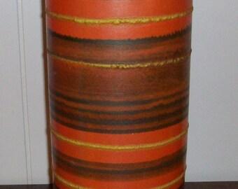 Mid Century Danish Modern RAYMOR, ALVINO BAGNI Vase Striped