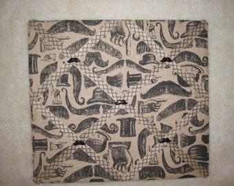 Burlap Mustache memory board, Photo memory board, Burlap memory board