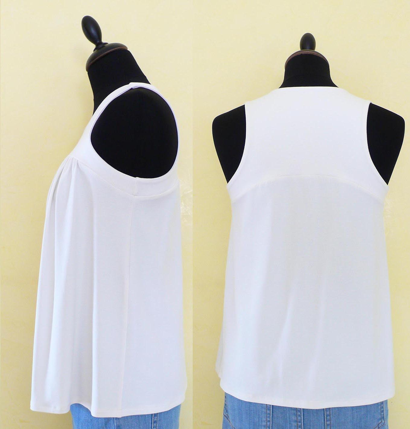 PDF Sewing Pattern Women's Sleeveless Jersey Top (sizes XS ...