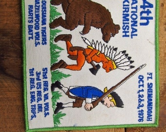 Vintage 1970's Civil War Reenactment Battle Patch - National Skirmish at Fort Shenandoah