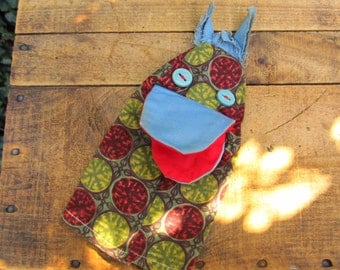 Vintage Hand-made Hand Puppet - Cotton Material Folk Art Hand Puppet - Horse Hand Puppet
