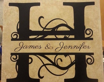 Monogram with name and marriage date