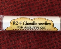 Notions: Chenille Needles for Wool Applique #24, Tube of 12
