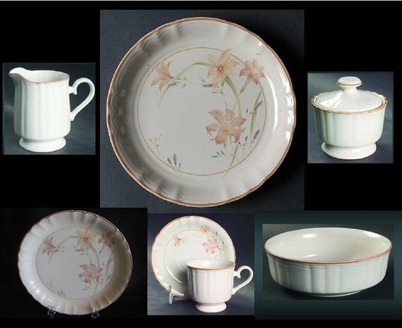 dinnerware complete set discontinued pattern studio nova rare