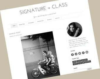 Responsive Wordpress Theme - Signature