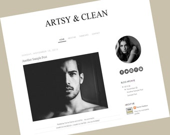 Simple Blogger Template - Minimalist Blogger Template - Artsy and Clean