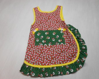Girls Christmas Slip on Apron fits 5 to 8 yrs