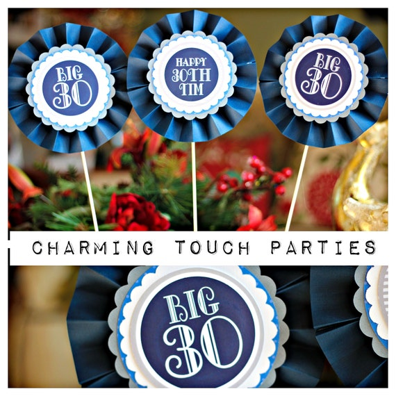 40th birthday party decor navy blue centerpiece by for 40th birthday decoration packs