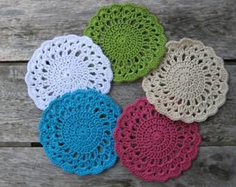 Charlotte Crochet Coaster Pattern - Dainty Vintage-style Crochet Coaster
