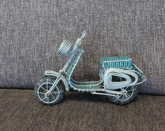 Wire Beaded Motorcycle Handmade and Vintage South African