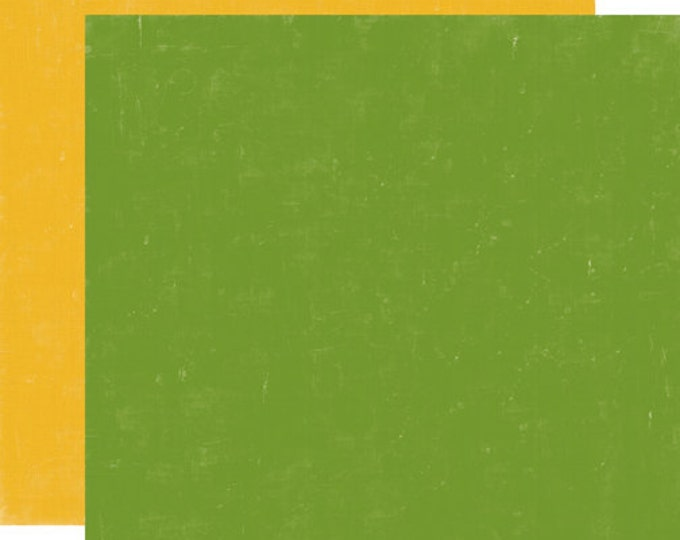 2 Sheets of Echo Park Paper HAPPY CAMPER 12x12 Camping Theme Scrapbook Paper - Green/Yellow