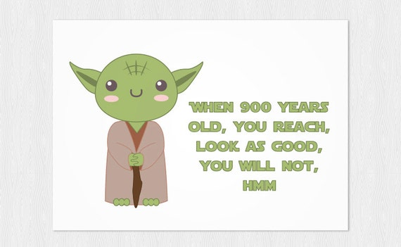 Wedding thank you cards youtube - Yoda Quotes Funny Happy Birthday Quotesgram