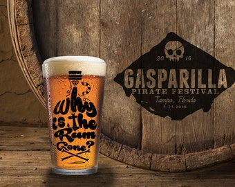 Gasparilla Pint Glass Rum Gone?